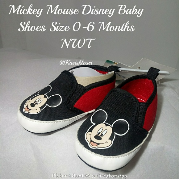 Mickey Mouse Crib Shoes Size 0//6 Months for Boys or Girls